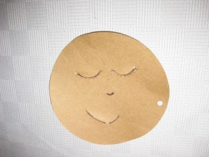 Face Template for Cushion Doll